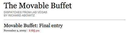 Movable Buffet : The Editors Choice For Best Blog In Las Vegas